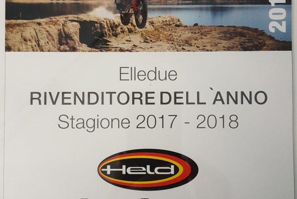 ELLEDUE MIGLIOR RIVENDITORE DELL'ANNO 2018 PER HELD