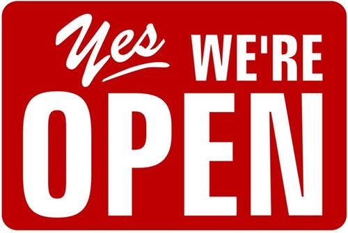 Mercoledì 2 Giugno siamo aperti!